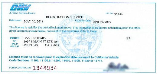 Ca Dmv Pay Registration >> Auto Vehicle Registration Renewal Services Bassi Notary